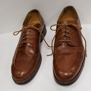 POLO AAM18472 Men Brown Leather Lace Up Oxford